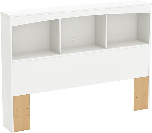 Full South Shore Furniture 54-Inch Step One Bookcase//Headboard Pure Black