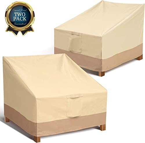 Outdoor Chair Patio Furniture Covers – Heavy Duty Lounge Deep Seat Cover for All Weathers, Durable Patio Covers for Backyard, Veranda, Lawn, Large