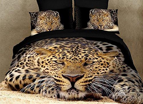 King Size Duvet Cover Sheets Set, Ghepardo -
