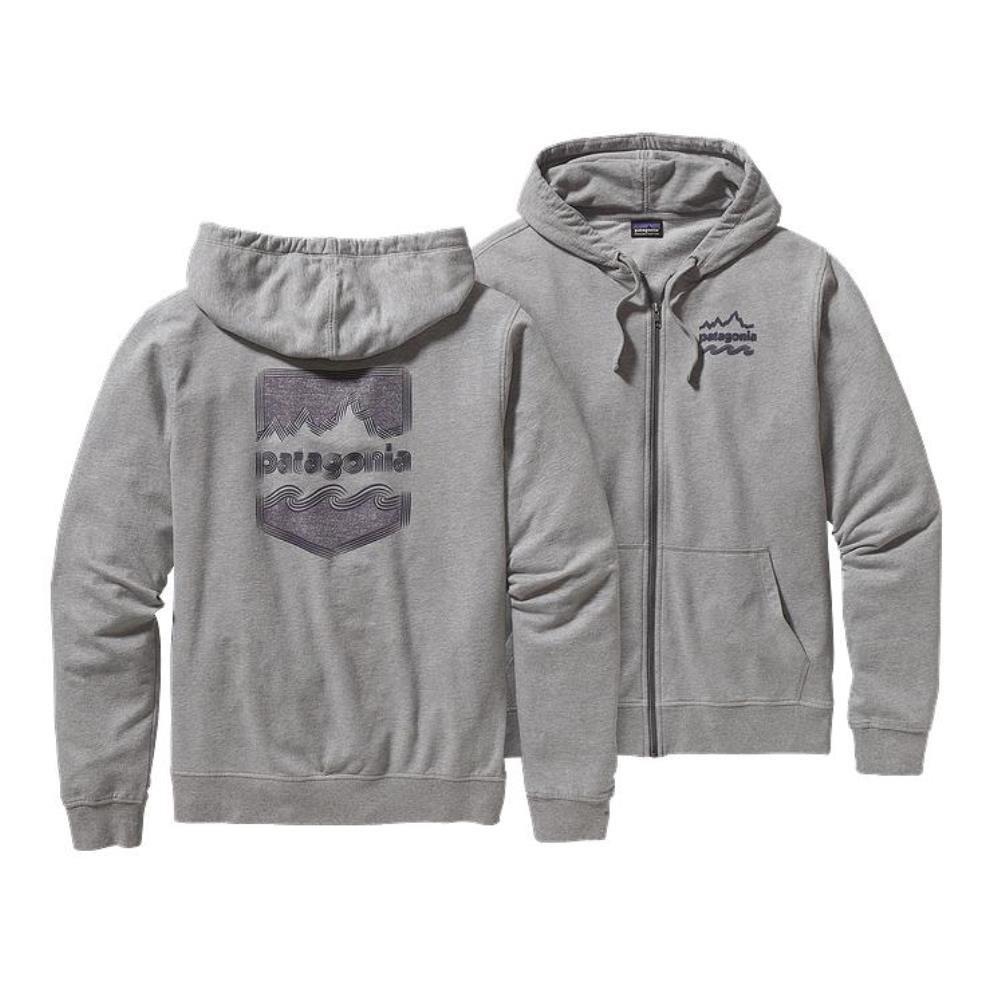 Patagonia M's - Brushed Badge Zip Sweathshirt Feather Grau - XLarge