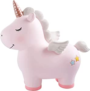 Lovely Rainbow Unicorn Piggy Bank for Girls, Resin Unicorn Piggy Bank Toys, Kid's Money Banks Coin Banks, Best Christmas Birthday Gifts for Kids, Great Home Decoration