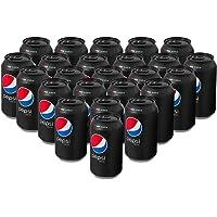 Pepsi Black, Refresco Sabor Cola sin Azucar, lata de 355 mililitros. Paquete de 24