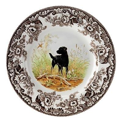 Spode Woodland Hunting Dogs Black Labrador Salad Plate