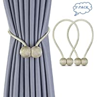One Pair Magnetic Curtain Tiebacks Decorative Rope Holdback Holder