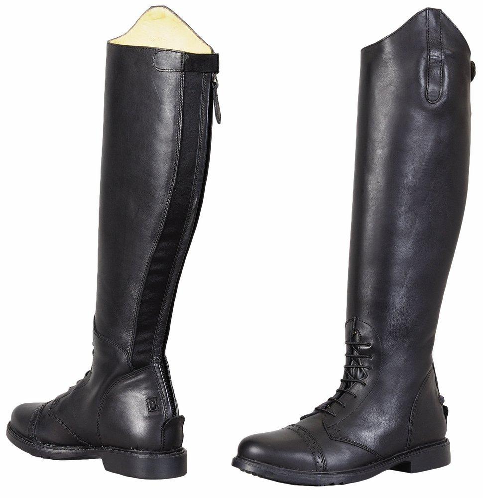 TuffRider Children's Baroque Field Boots, Black, 1 Slim Regular