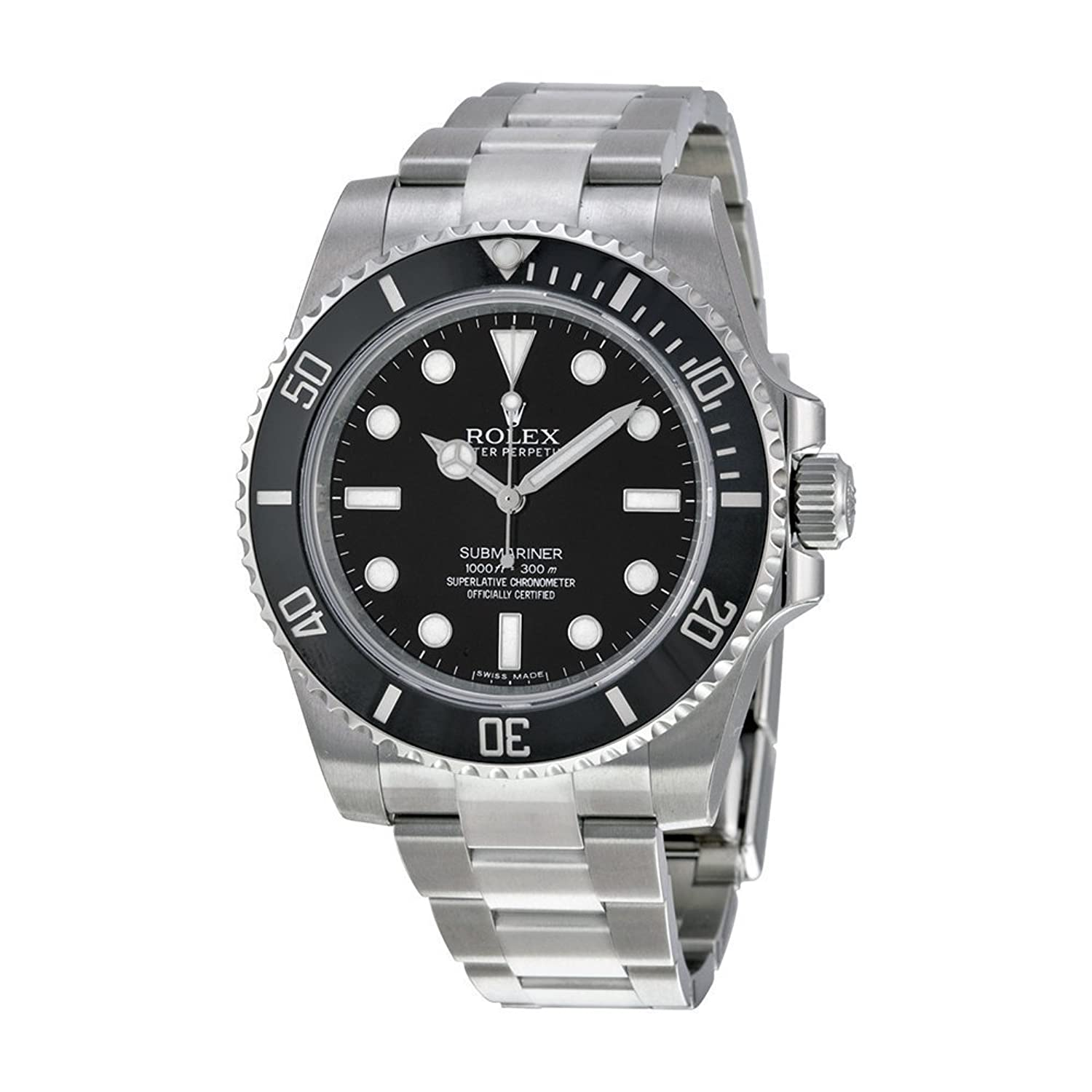 amazon com rolex submariner black dial stainless steel automatic amazon com rolex submariner black dial stainless steel automatic mens watch 114060 rolex watches