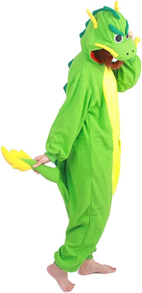 brlmall peluche pijama Onesie Unisex para adulto cosplay de dragón ...