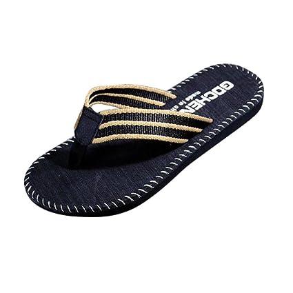 0a0e3f1b9 Beachone Men Summer Stripe Flip Flops Shoes Sandals Male Slipper Flip-flops  Beach Shoes Summer