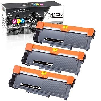 GPC Image TN2320 TN2310 TN-2320 TN-2310 Compatible Cartuchos de tóner Reemplazo para Brother HL-L2340DW HL-L2360DN MFC-L2700DW DCP-L2520DW HL-L2365DW ...