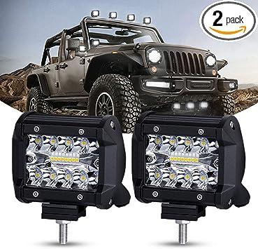 2x 4 inch CREE LED Work Light Bar SPOT Pods Off Road Truck Reverse Fog Lights