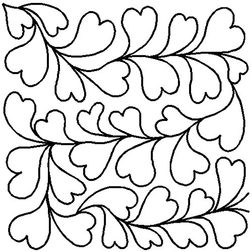 Quilting Creations Queen of Hearts Block Continuous Line Quilting Stencil, 10