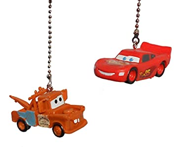 2 NEW Disney Cars Ceiling Fan Pulls Light Lamp