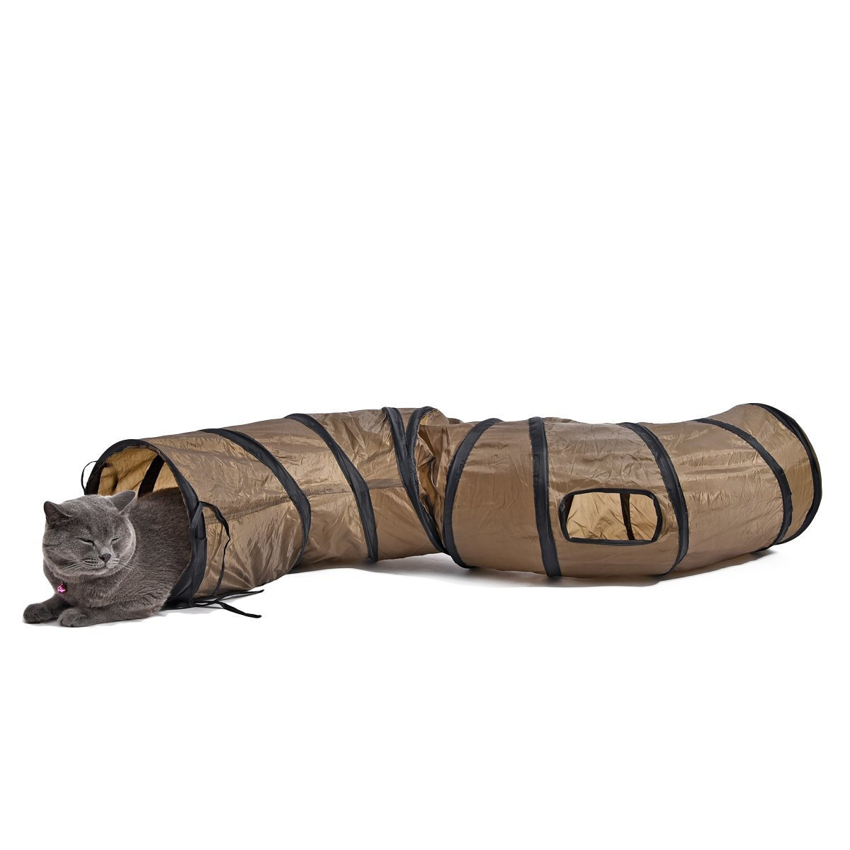 Vedem Pet Collapsible Sigmate Play Tunnel for Rabbits, Cats, and Dogs