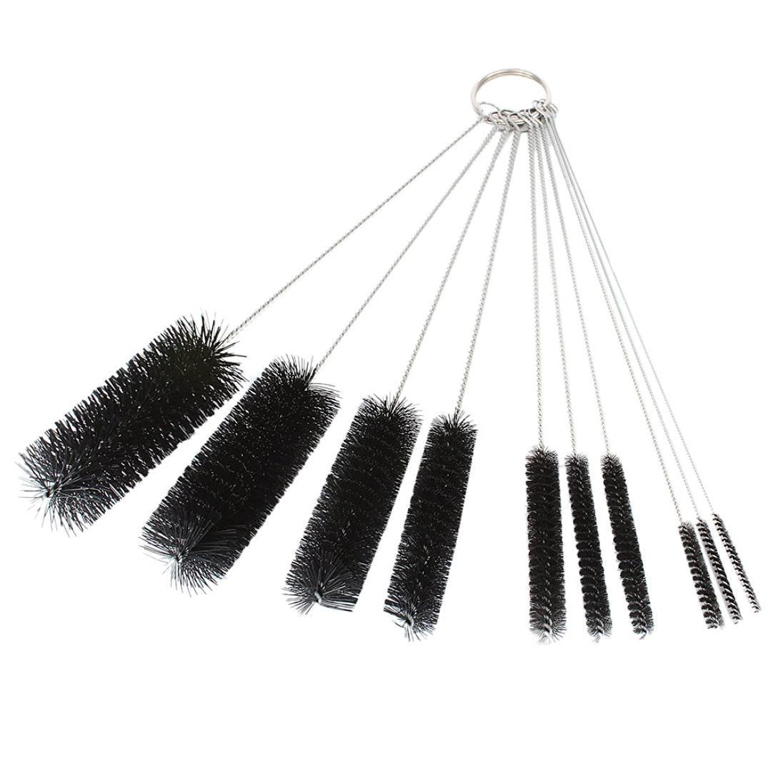 Dxg 8.2 Inch Nylon Tube Brush Set Cleaning Brush Set for Drinking Straws, Glasses, Keyboards, Jewelry Cleaning, Set of 10 Brush-01