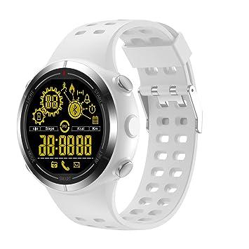 ZHAS Moda Militar Reloj Digital Bluetooth Deportes Al Aire Libre Reloj Cronómetro Podómetro Caloría Registro De Distancia,White: Amazon.es: Deportes y aire ...
