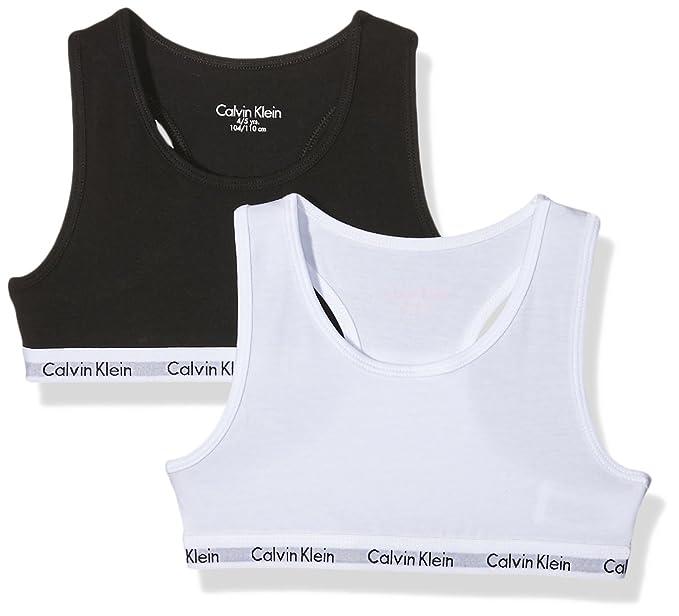 5 opinioni per Calvin Klein 2pk Bralette, Reggiseno Bambina