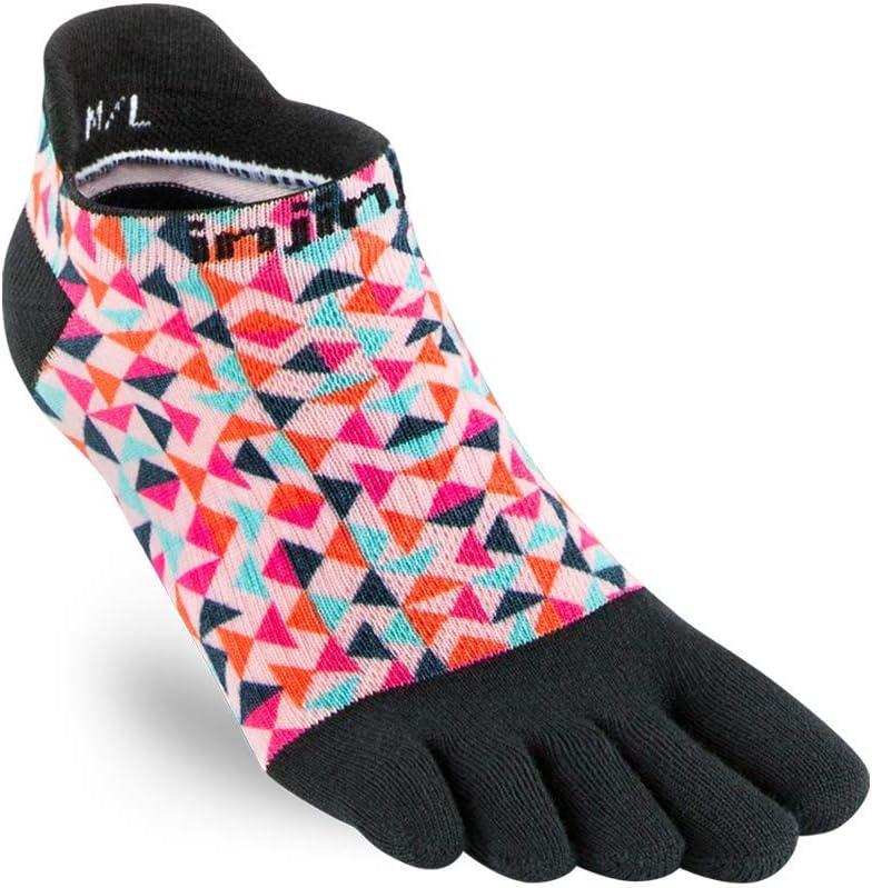 Injinji Socks Run Lightweight No Show Running Toe Socks Guava Womens
