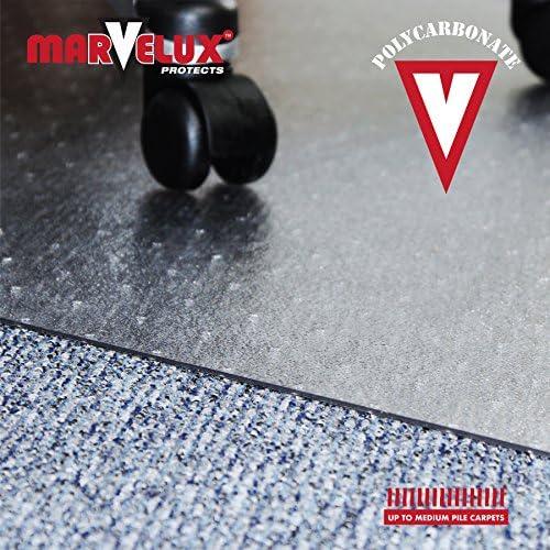 PC Standard and Medium Pile Carpets MREM486001 Chair Mat for Low Multiple Sizes Chair Mats Ltd Marvelux 48 x 60 Polycarbonate Rectangular Transparent Carpet Protector