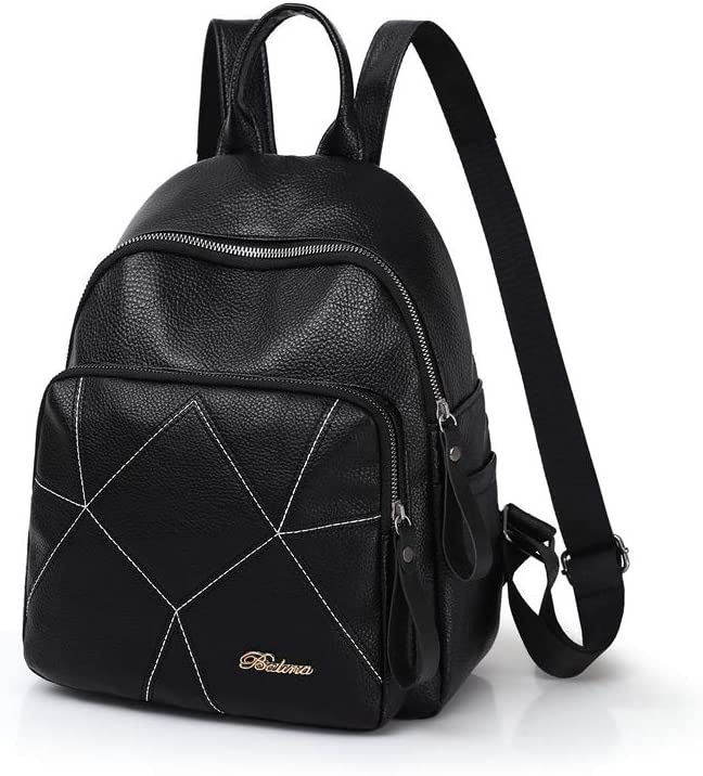 Dragonfly Embroidery Huijunwenti The Girls Versatile Backpack is Perfect for Everyday Travel Outdoor Travel Work Black School Fashion and Leisure Latest Models