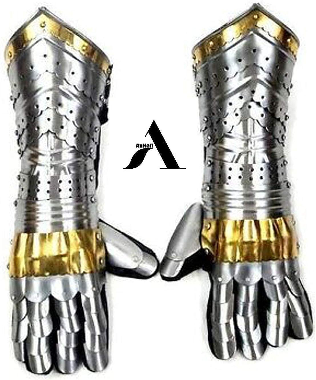 Warrior Metal Gauntlet Medieval Knight Costume AnNafi Armor Gauntlets Steel Gloves Armor Pair