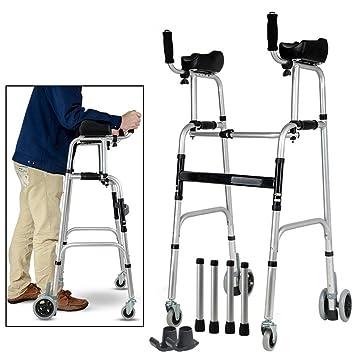 Andadores con ruedas para personas mayores con soporte de asiento ...