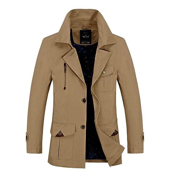 mode de premier ordre plus grand choix de 2019 beauté Yvelands Solde Homme l'hiver Couleur Unie Revers Bouton ...
