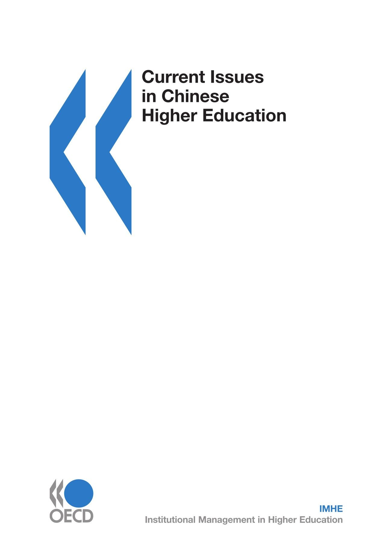 Current Issues in Chinese Higher Education (Education & skills) pdf