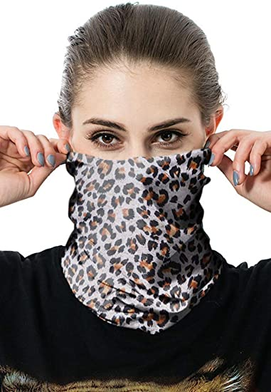 Lomelomme Unisex Rave Bandana Neck Gaiter Tube Headwear For Women Men Fashion Couple Seamless Face Scarf Camouflage Riding Windproof Sunscreen Camouflage Balaclava Tube