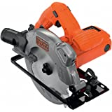 Black+Decker Handkreissäge (1250W, Schnitttiefe 66 mm/50 mm (90°/45°) 1 Sägeblatt mit Parallelanschlag, Durchmesser 190 mm, mit Schnellspannhebel, integrierter Laser) CS1250L