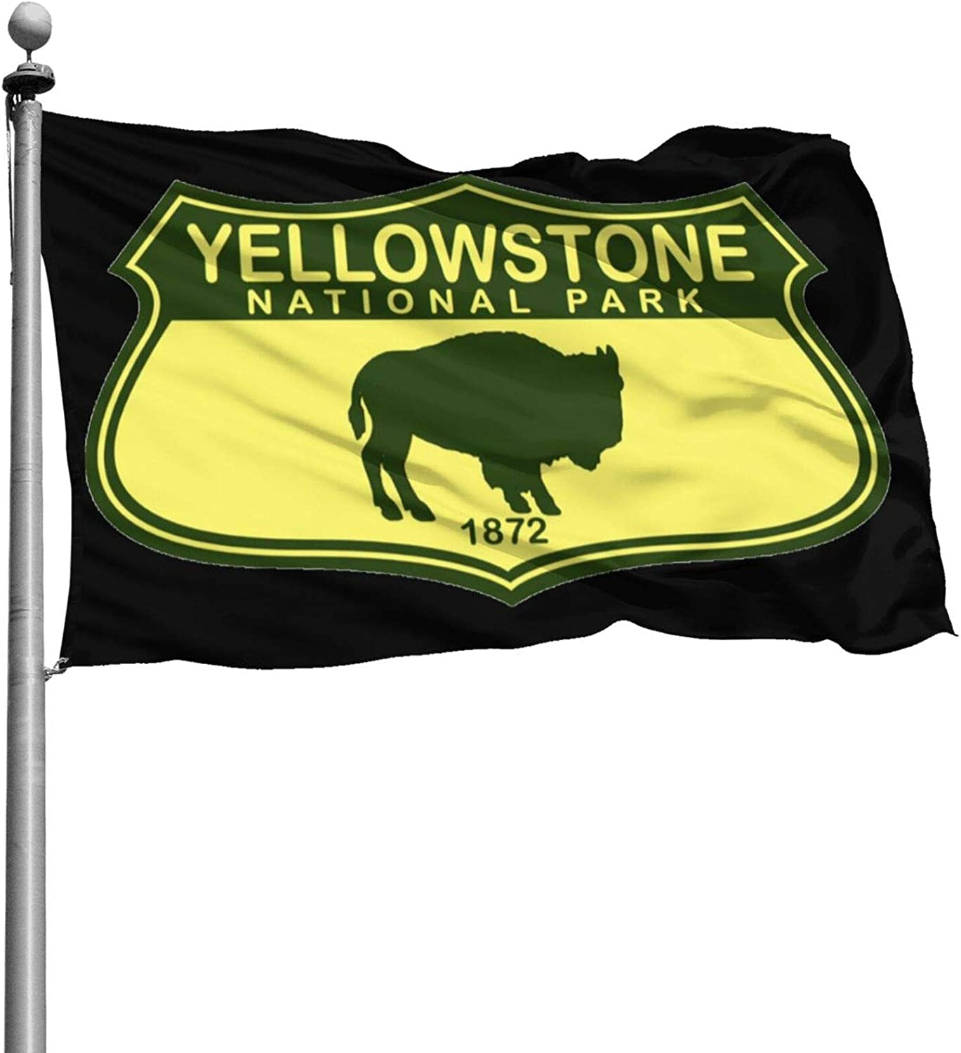 Just789 Durable Yellowstone National Park Flags Built for Outdoors-Vivid Color and Uv Fade Resistant-Outdoor Decor for Homes and Gardens 4 X 6 Ft