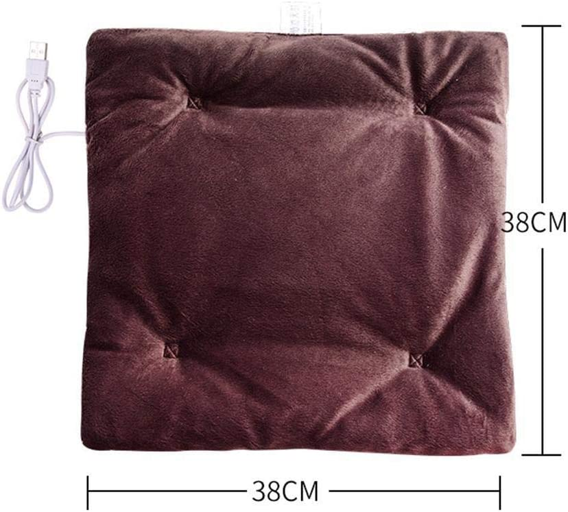 Bravet Winter USB Heating Cushion Unisex Home Office Soft Plush Electric Heated Cushion Chair Pad