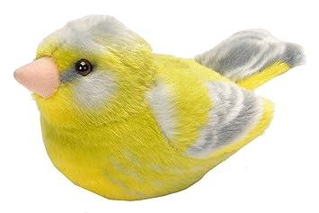 Wild Republic - Aves, Verderón con Sonidos Reales Peluche, 13 - 16 cm (