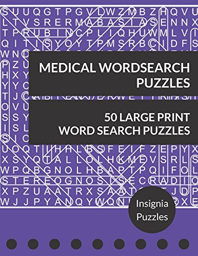 Medical Wordsearch Puzzles: One Puzzle Per Page (People Pads Training)