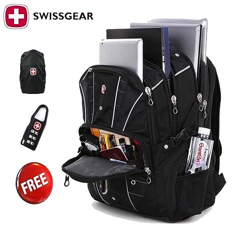 nuovo stile 59e47 652da Swiss Gear multifunzione Uomo Borse Multifunzione viaggio Swissgear zaino  trekking Borsa Notebook Tablet 17 pollici del computer, a spalla, zaino ...