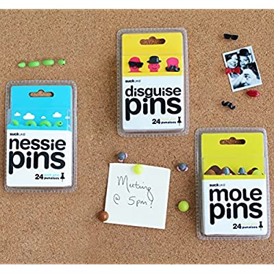 SUCK UK Novelty Push Pins - Disguise: Office Products
