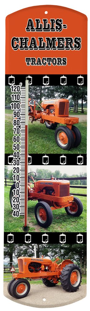 Heritage America by MORCO 375TAC Tractor-Allis Chalmers Outdoor or Indoor Thermometer, 20-Inch