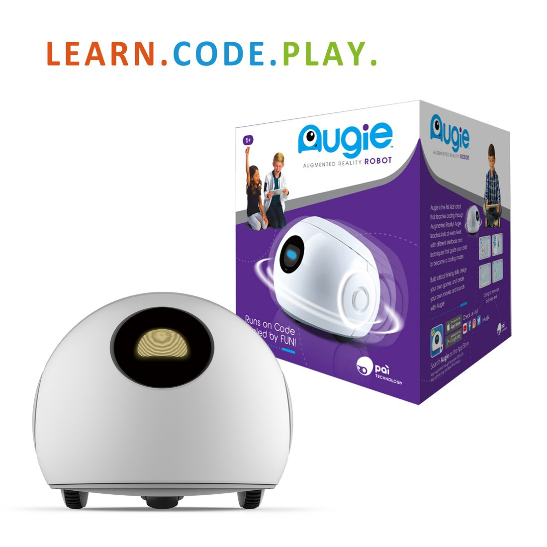 PAI TECHNOLOGY Augie The Coding Robot|Educational STEM Toy Robotic Adventure| Learn Coding & Programming / Augmented Reality Play by PAI TECHNOLOGY (Image #1)