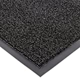 Notrax Non-Absorbent Fiber 231 Prelude Entrance Mat, for Outdoor and Heavy Traffic Areas, 3' Width x 10' Length x 1/4'' Thickness, Black