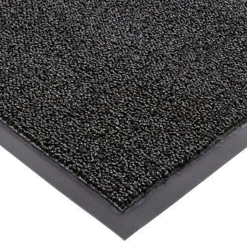 Notrax Non-Absorbent Fiber 231 Prelude Entrance Mat, for Outdoor and Heavy Traffic Areas, 3' Width x 10' Length x 1/4'' Thickness, Black by NoTrax