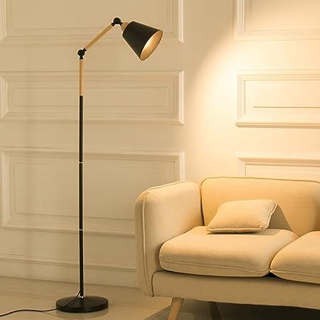 Lily Lámpara de pie Moderna de la protección de la luz Suave ...