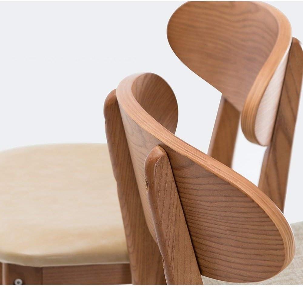 ESSEASON Bar Chair High Back Chair Creative Bar Stool Wooden Modern Simple Kitchen Breakfast Bar Stool(color : A) B
