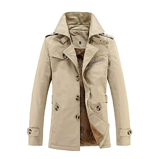 375eb1f90 MICHAELAN Mens Casual Slim Fit Outwear Trench Coat, Mens Trench Coat  Windbreaker Wind Trench Coats Outdoor Jacket