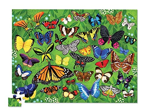 Crocodile Creek Thirty-Six Butterflies 100Piece Jigsaw Puzzle in Canister Puzzle