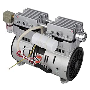 Oilless Vacuum Pump, 220V 600W Oil Free Vacuum Pump 680mmHg/-90.6kpa 120L/min for Semiconductor Automation Equipment, Packaging Machine
