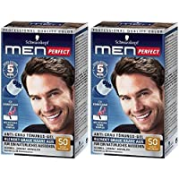 2 X Schwarzkopf Men Perfect - For Men - Gentle Hair Color Gel - Light Brown