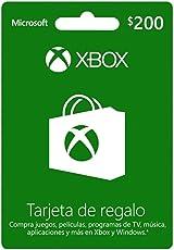 Tarjeta Xbox Live $200 MXN - Xbox One Standard Edition