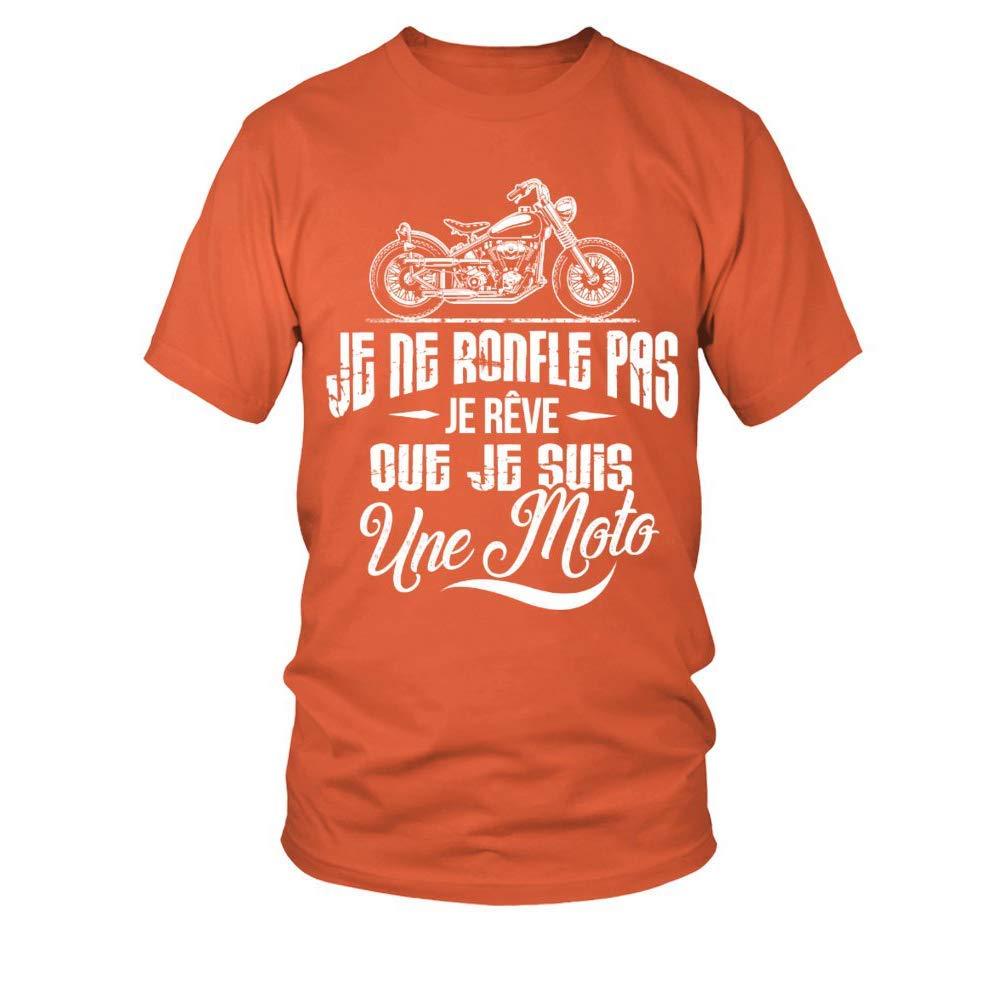teezily T-Shirt Je ne Ronfle Pas Je r/êve Que Je suis Une Moto Homme