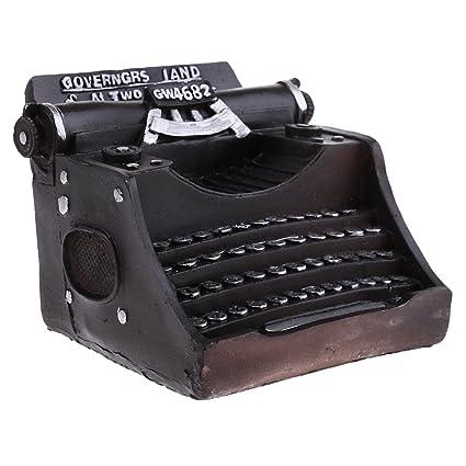 MagiDeal Vintage Modelo Máquina de Escribir Artesanía de Resina Adorno para Bar Cafetería Decoración de Hogar