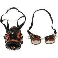 Fityle Gafas Con Máscara De Gas Retro Respirador Steampunk Celebración Adorno Decoración Fiesta