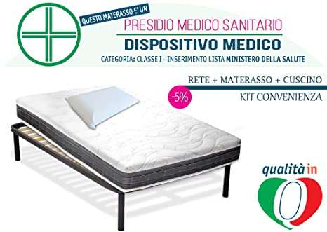 InMaterassi - Kit XXL, Materasso Una Piazza e Mezza waterfoam, Rete ...
